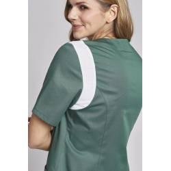 Damen -  Schlupfjacke 2788 von LEIBER / Farbe: olive-weiß / 50% Baumwolle, 50% Polyester -   MEIN-KASACK.de   kasack   k