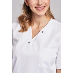 Damen -  Schlupfjacke 2791 von LEIBER / Farbe: weiß / 50% Baumwolle, 50% Polyester - | MEIN-KASACK.de