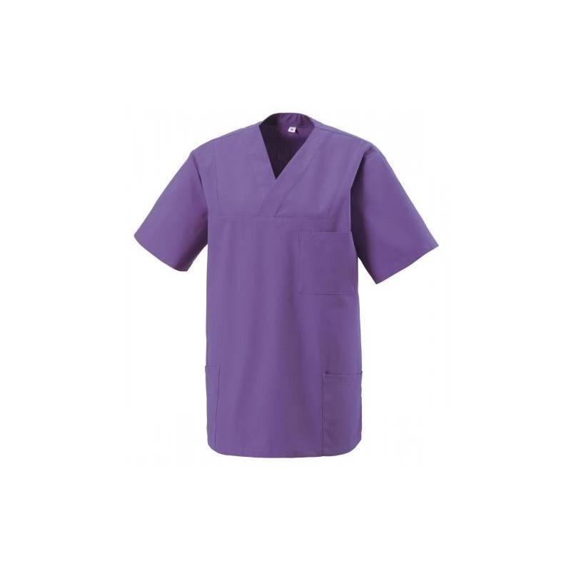 Herren -  Kasack 273 von EXNER / Farbe: purple / 50% Baumwolle 50% Polyester 175 gr. - | MEIN-KASACK.de