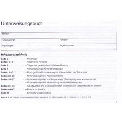 Unterweisungsbuch (DGUV) für Arbeitsschutzunterweisung und Sicherheitsunterweisung - | MEIN-KASACK.de | kasack | kasacks