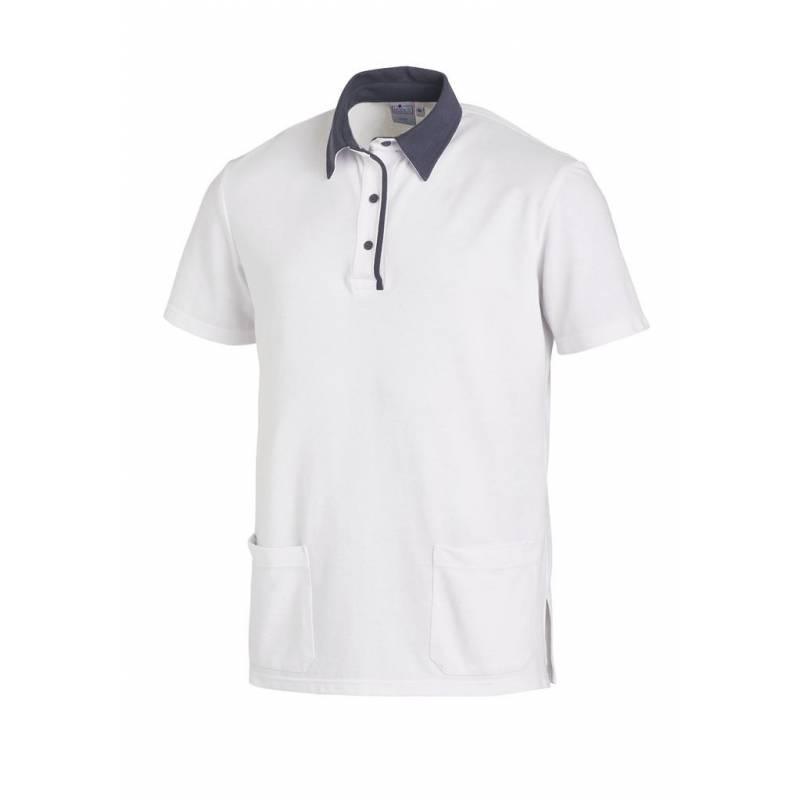 Poloshirt 2743 von LEIBER / Farbe: weiß-grau / 50% Baumwolle 50% Polyester - | MEIN-KASACK.de
