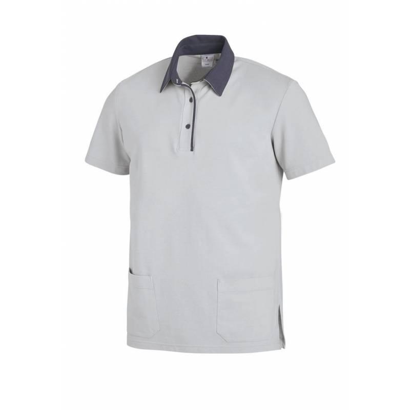 Poloshirt 2743 von LEIBER / Farbe: silbergrau-grau / 50% Baumwolle 50% Polyester - | MEIN-KASACK.de | kasack | kasacks |