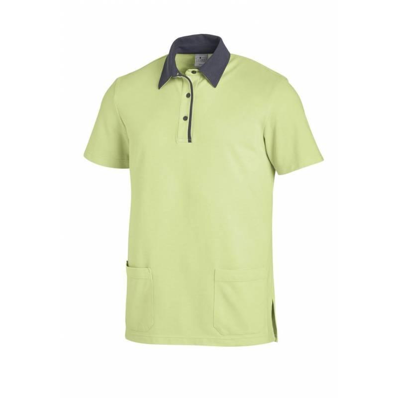 Poloshirt 2743 von LEIBER / Farbe: hellgrün-grau / 50% Baumwolle 50% Polyester - | MEIN-KASACK.de | kasack | kasacks | k