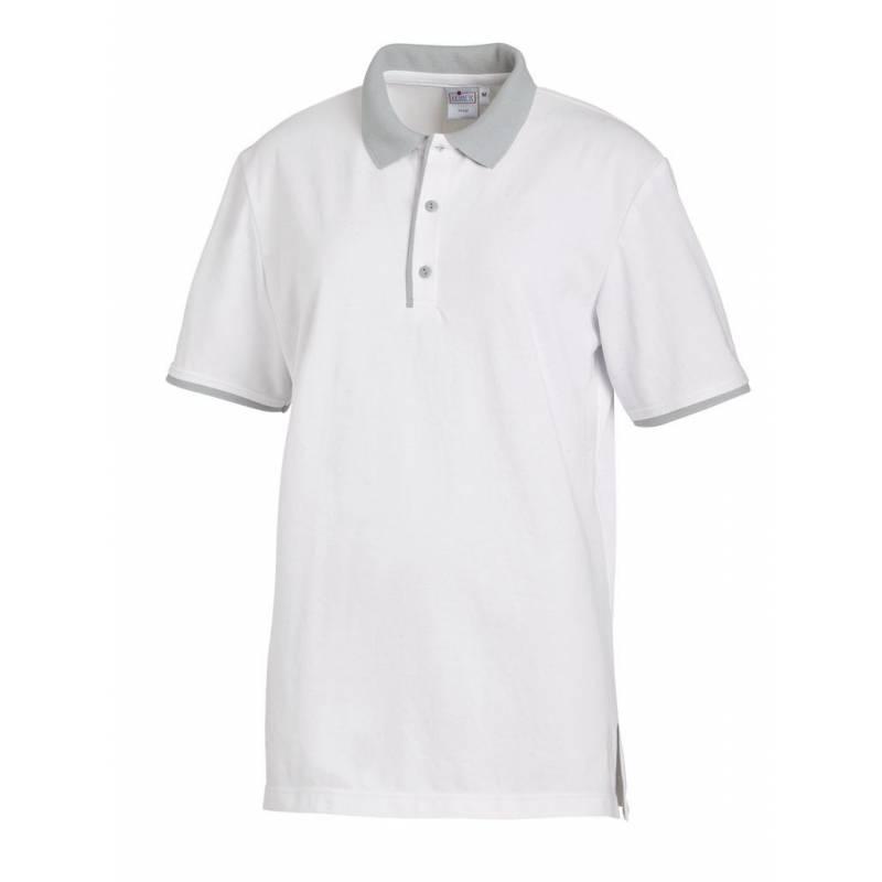 Poloshirt 2742 von LEIBER / Farbe: weiß-silbergrau / 50 % Polyester 50 % Baumwolle - | MEIN-KASACK.de