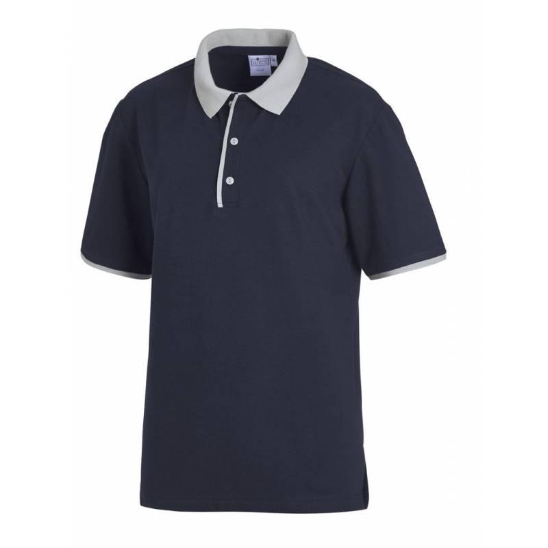 Poloshirt 2742 von LEIBER / Farbe: marine-silbergrau / 50 % Polyester 50 % Baumwolle -   MEIN-KASACK.de   kasack   kasac