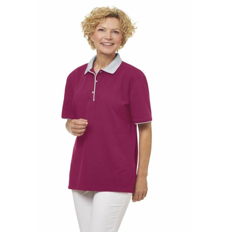 Poloshirt 2742 von LEIBER / Farbe: beere-silbergrau / 50 % Polyester 50 % Baumwolle -   MEIN-KASACK.de   kasack   kasack