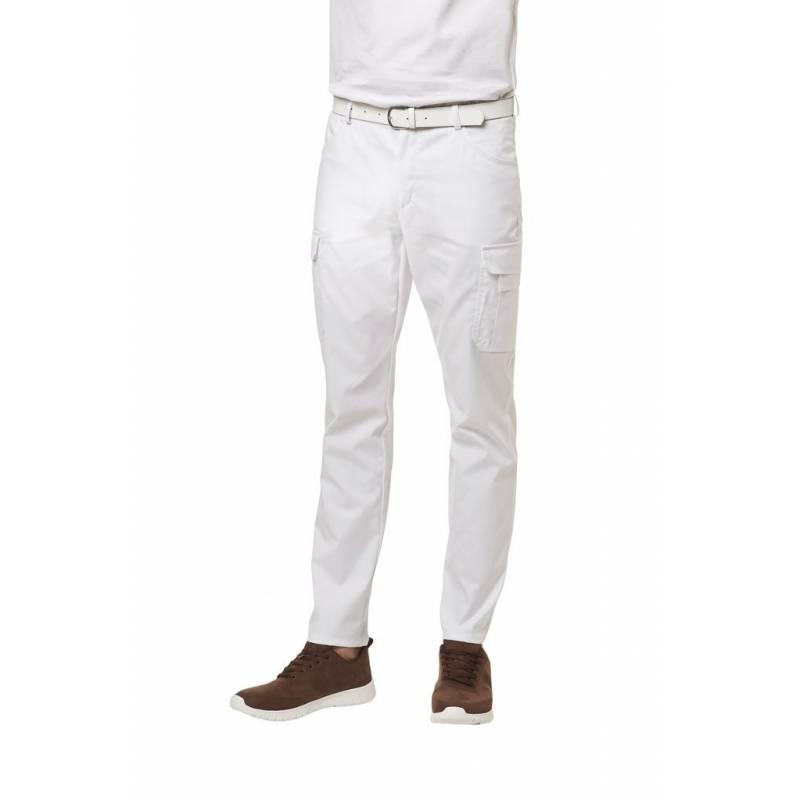 Herren Cargo-Hose 7850 von LEIBER / Farbe: weiß / 48% Baumwolle 48% Polyester 4% Elastolefin - | MEIN-KASACK.de