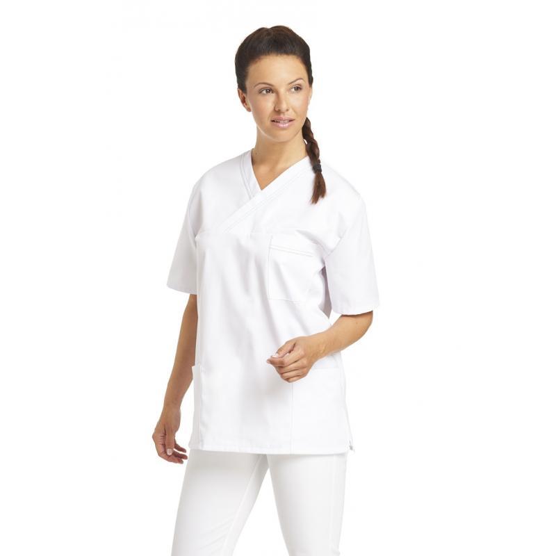 Damen - Schlupfjacke 2451 von LEIBER / Farbe: weiß / 65 % Polyester 35 % Baumwolle - | Wenn Kasack - Dann MEIN-KASACK.de