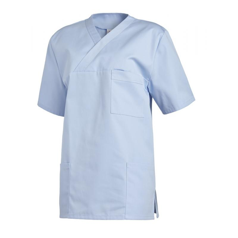 Damen - Schlupfjacke 2451 von LEIBER / Farbe: hellblau / 65 % Polyester 35 % Baumwolle - | Wenn Kasack - Dann MEIN-KASAC