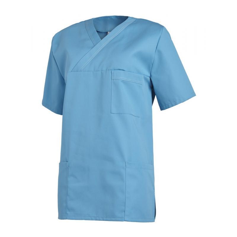 Damen - Schlupfjacke 2451 von LEIBER / Farbe: türkis / 65 % Polyester 35 % Baumwolle - | Wenn Kasack - Dann MEIN-KASACK.
