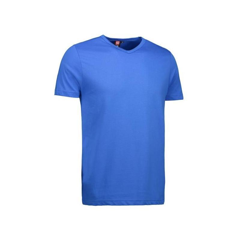 T-TIME® Herren T-Shirt 0514 von ID / Farbe: azur / V-Ausschnitt / 100% BAUMWOLLE - | Wenn Kasack - Dann MEIN-KASACK.de |