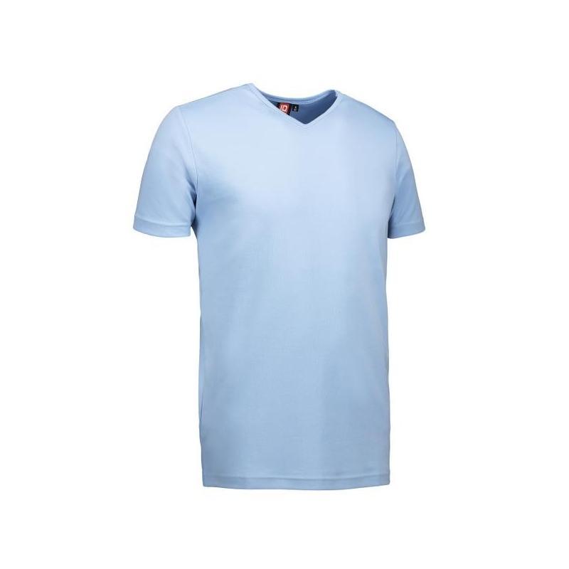 T-TIME® Herren T-Shirt 0514 von ID / Farbe: hellblau / V-Ausschnitt / 100% BAUMWOLLE - | Wenn Kasack - Dann MEIN-KASACK.