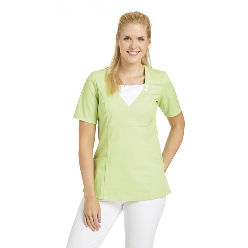 Schlupfjacke 2517 von LEIBER / Farbe: hellgrün / 65 % Polyester 35% Baumwolle - | MEIN-KASACK.de