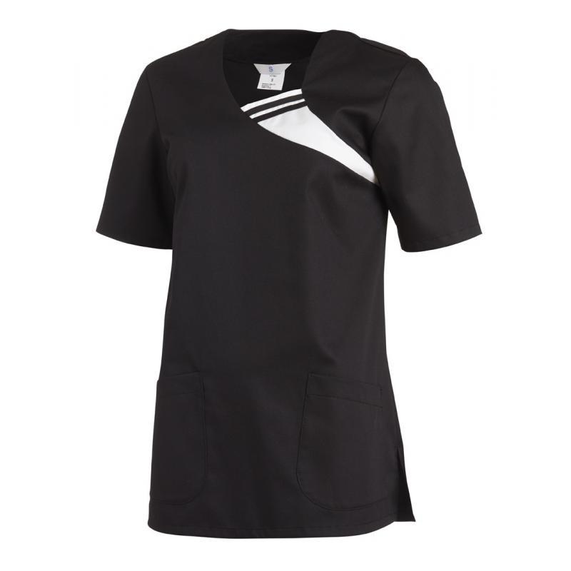Schlupfjacke 1255 von LEIBER / Farbe: schwarz / 65 % Polyester 35 % Baumwolle - | Wenn Kasack - Dann MEIN-KASACK.de | Ka