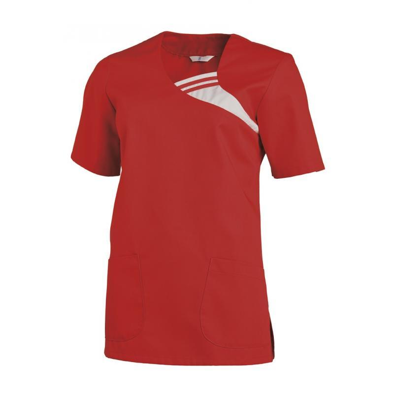 Schlupfjacke 1255 von LEIBER / Farbe: rot / 65 % Polyester 35 % Baumwolle - | Wenn Kasack - Dann MEIN-KASACK.de | Kasack
