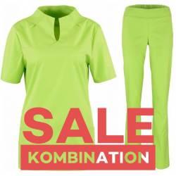 SALE - Kombination aus KASACK 2369 und DAMENHOSE 2447 von BEB / Farbe: APPLE - | MEIN-KASACK.de | kasack | kasacks | kas