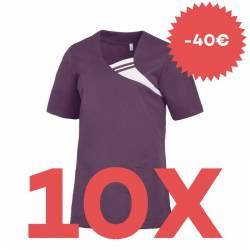 SPARSET: 10x Damen -  Schlupfjacke 1255 von LEIBER / Farbe: pflaume - | MEIN-KASACK.de | kasack | kasacks | kassak | ber