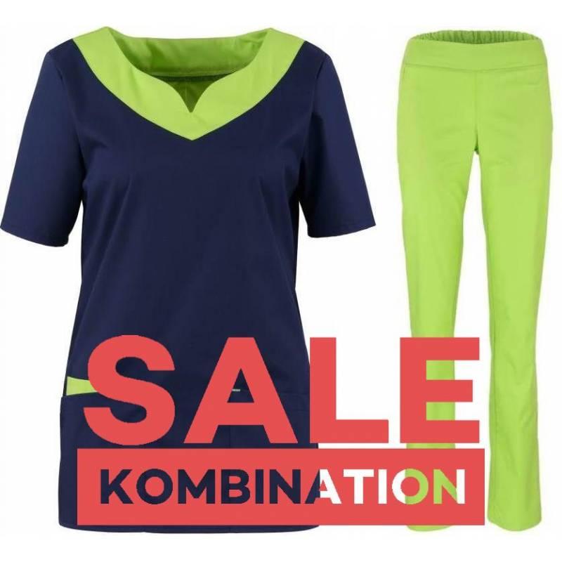 SALE - Kombination aus KASACK 2436 und DAMENHOSE 2447 von BEB / Farbe: APPLE - | MEIN-KASACK.de | kasack | kasacks | kas