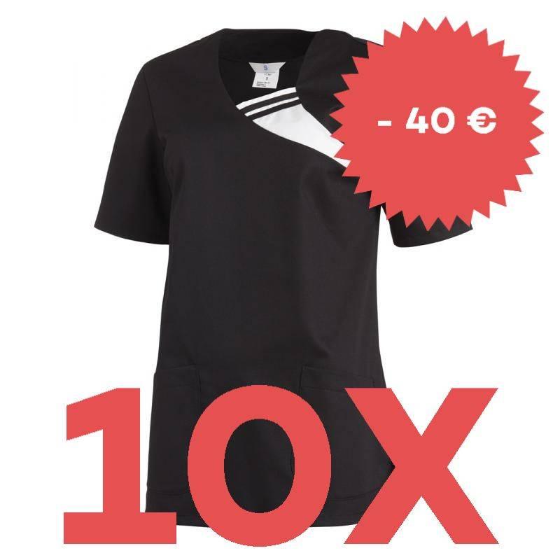 SPARSET: 10x Damen -  Schlupfjacke 1255 von LEIBER / Farbe: schwarz - | MEIN-KASACK.de | kasack | kasacks | kassak | ber