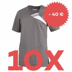 SPARSET: 10x Damen -  Schlupfjacke 1255 von LEIBER / Farbe: grau - | MEIN-KASACK.de | kasack | kasacks | kassak | berufs