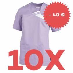 SPARSET: 10x Damen -  Schlupfjacke 1255 von LEIBER / Farbe: flieder - | MEIN-KASACK.de | kasack | kasacks | kassak | ber