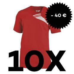 SPARSET: 10x Damen -  Schlupfjacke 1255 von LEIBER / Farbe: rot - | MEIN-KASACK.de | kasack | kasacks | kassak | berufsb