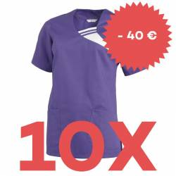 SPARSET: 10x Damen -  Schlupfjacke 1255 von LEIBER / Farbe: lila - | MEIN-KASACK.de | kasack | kasacks | kassak | berufs