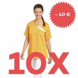 SPARSET: 10x Damen -  Schlupfjacke 1255 von LEIBER / Farbe: sun (orange) - | MEIN-KASACK.de | kasack | kasacks | kassak
