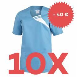 SPARSET: 10x Damen -  Schlupfjacke 1255 von LEIBER / Farbe: türkis - | MEIN-KASACK.de | kasack | kasacks | kassak | beru