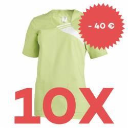 SPARSET: 10x Damen -  Schlupfjacke 1255 von LEIBER / Farbe: hellgrün - | MEIN-KASACK.de | kasack | kasacks | kassak | be