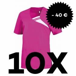 SPARSET: 10x Damen -  Schlupfjacke 1255 von LEIBER / Farbe: fuchsia - | MEIN-KASACK.de | kasack | kasacks | kassak | ber
