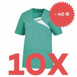SPARSET: 10x Damen -  Schlupfjacke 1255 von LEIBER / Farbe: smaragd - | MEIN-KASACK.de | kasack | kasacks | kassak | ber