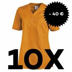SPARSET: 10x Damen -  Schlupfjacke 1254 von LEIBER / Farbe: sun (orange) - | MEIN-KASACK.de | kasack | kasacks | kassak