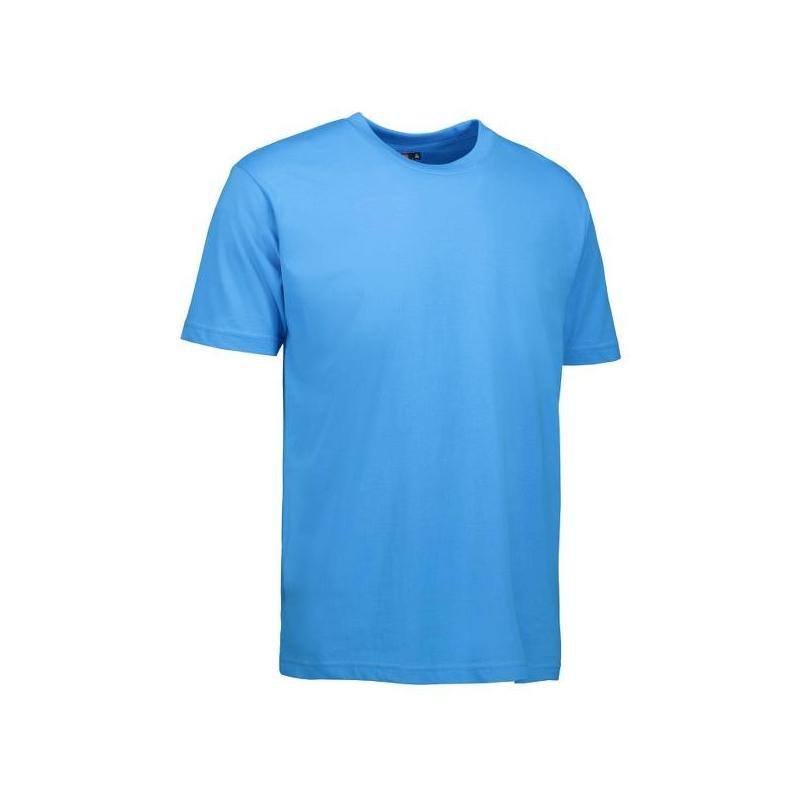 T-Shirt 0500 von ID / Farbe: cyan / 100% BAUMWOLLE - | Wenn Kasack - Dann MEIN-KASACK.de | Kasacks für die Altenpflege K