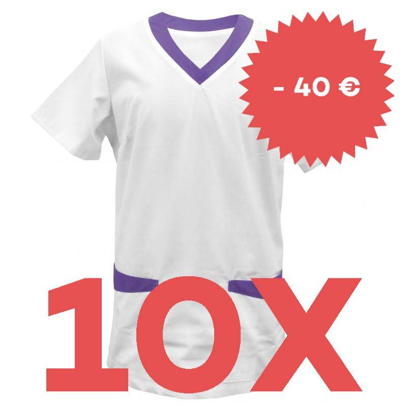 SPARSET: 10x Damen -  Kasack 282 von EXNER / Farbe: purple - | MEIN-KASACK.de | kasack | kasacks | kassak | berufsbeklei