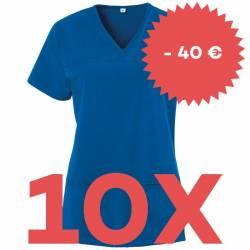 SPARSET: 10x Damen -  Kasack 280 - X-TOP von EXNER / Farbe: royal blau - | MEIN-KASACK.de | kasack | kasacks | kassak |