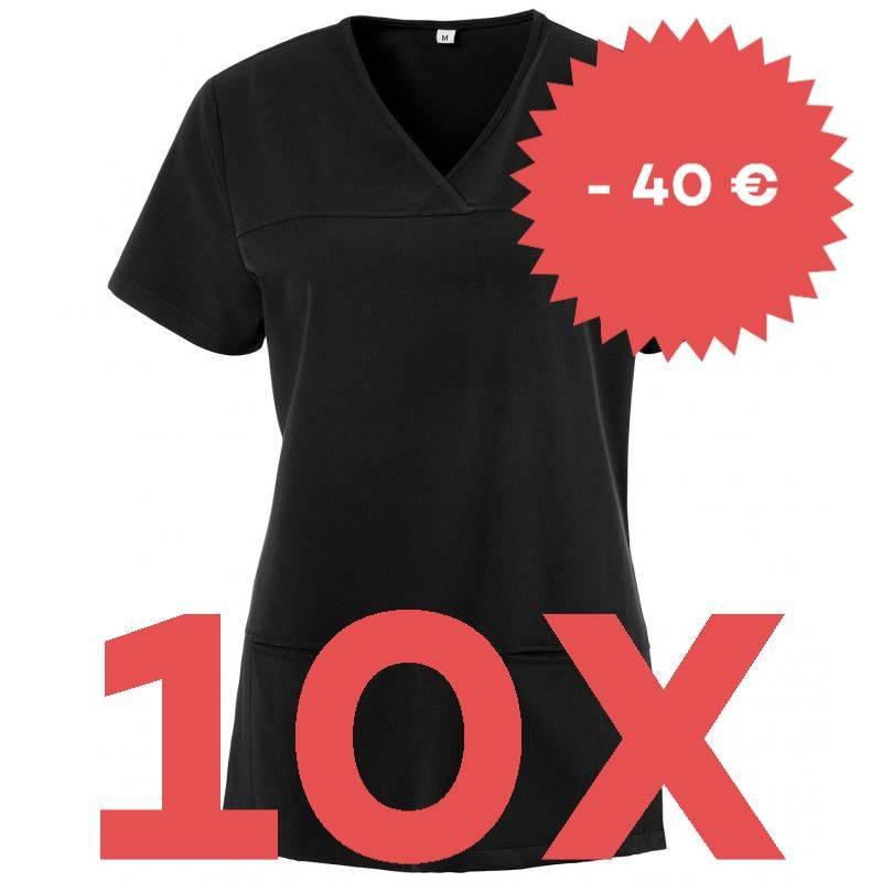 SPARSET: 10x Damen -  Kasack 280 - X-TOP von EXNER / Farbe: schwarz - | MEIN-KASACK.de | kasack | kasacks | kassak | ber