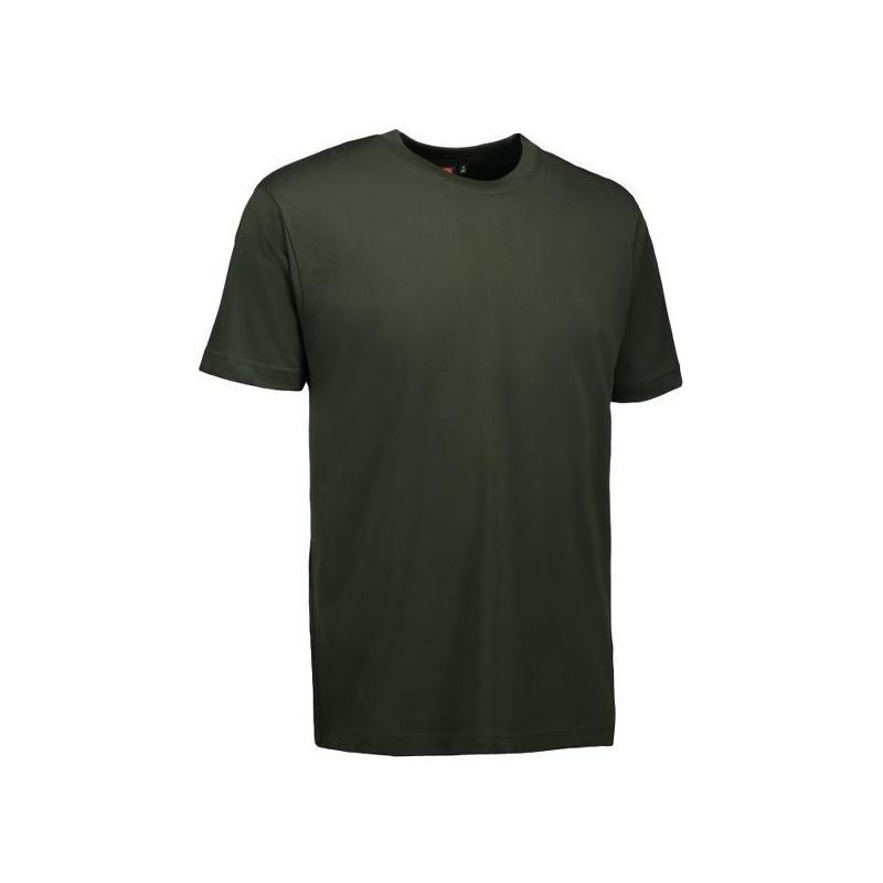 T-Shirt 0500 von ID / Farbe: flaschengrün / 100% BAUMWOLLE -   Wenn Kasack - Dann MEIN-KASACK.de   Kasacks für die Alten