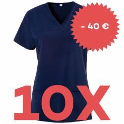 SPARSET: 10x Damen -  Kasack 280 - X-TOP von EXNER / Farbe: navy - | MEIN-KASACK.de | kasack | kasacks | kassak | berufs