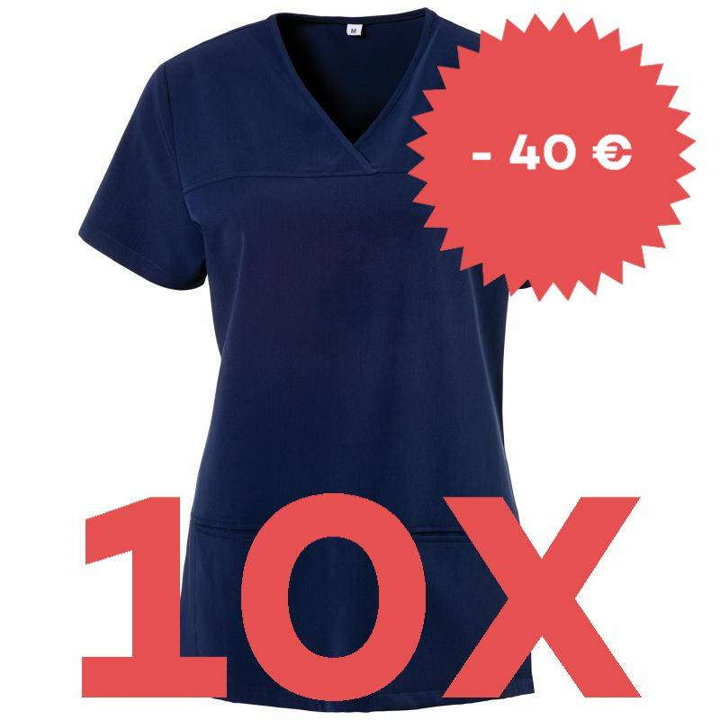 SPARSET: 10x Damen -  Kasack 280 - X-TOP von EXNER / Farbe: navy - | MEIN-KASACK.de