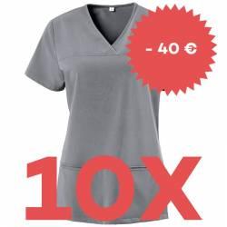 SPARSET: 10x Damen -  Kasack 280 - X-TOP von EXNER / Farbe: graphit - | MEIN-KASACK.de | kasack | kasacks | kassak | ber