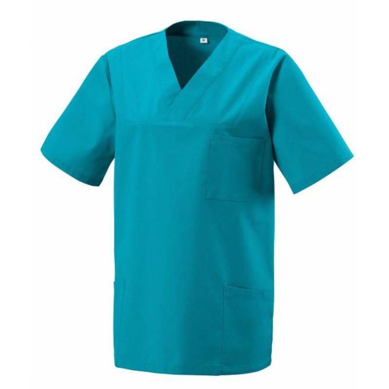 Herren -  Kasack 273 von EXNER / Farbe: teal / 50% Baumwolle 50% Polyester 175 gr. -   MEIN-KASACK.de   kasack   kasacks