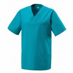 Damen -  Kasack 273 von EXNER / Farbe:  teal / 50% Baumwolle 50% Polyester 175 gr. - | MEIN-KASACK.de | kasack | kasacks