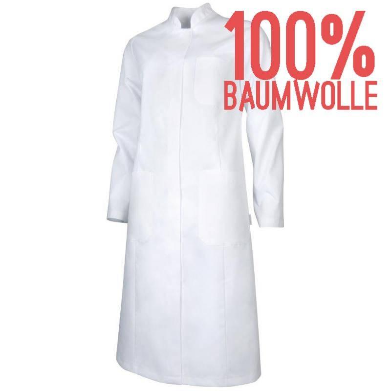 Damenmantel / Arztkittel / Laborkittel - 4368 von TEAMDRESS / Farbe: weiß / 100 % Baumwolle - | MEIN-KASACK.de | kasack