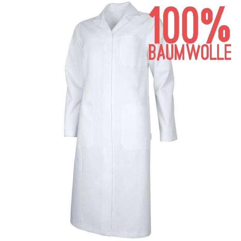 Damenmantel / Arztkittel / Laborkittel - 4366 von TEAMDRESS / Farbe: weiß / 100 % Baumwolle - | MEIN-KASACK.de | kasack