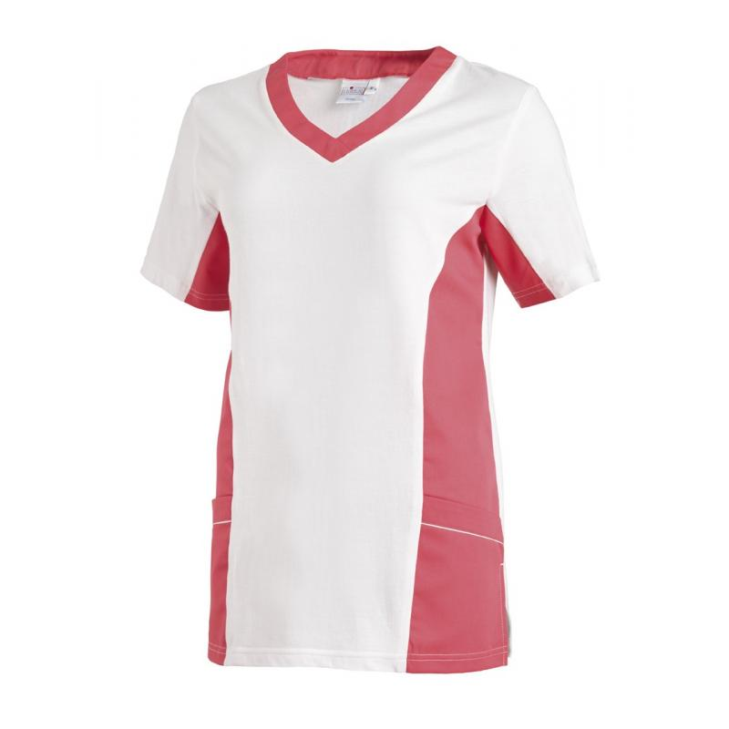 Heute im Angebot: Chasuble 264 von LEIBER / Farbe: weiß-schwarz / 65 % Polyester 35 % Baumwolle  Damen Schlupfjacken - SCHLUPFKASACK - Kasack Damen - Kasack Pflege