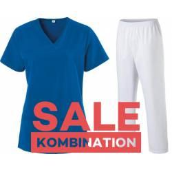 SALE - Kombination aus KASACK 280 - X-TOP und  SCHLUPFHOSE 330 von EXNER / Farbe: ROYAL BLUE - WEIß - | MEIN-KASACK.de |