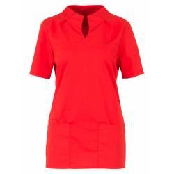 Damen -  Kasack 2369 von BEB / Farbe: rot / 49% Baumwolle 48% Polyester 3% Elastolefin - | MEIN-KASACK.de