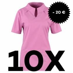 SPARSET: 10x Damen -  Kasack 2369 von BEB / Farbe: lila (lagune) - | MEIN-KASACK.de | kasack | kasacks | kassak | berufs