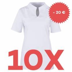 SPARSET: 10x Damen -  Kasack 2369 von BEB / Farbe: weiß - | MEIN-KASACK.de | kasack | kasacks | kassak | berufsbekleidun